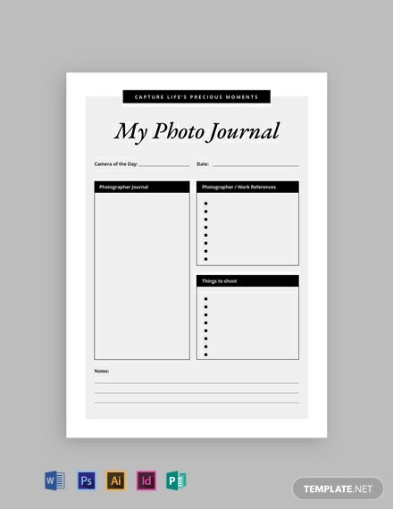 Free Photography Journal Template