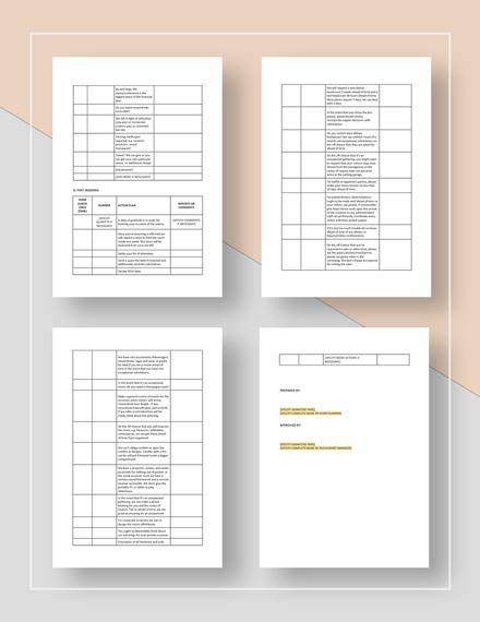 Restaurant Event Planning Checklist Download