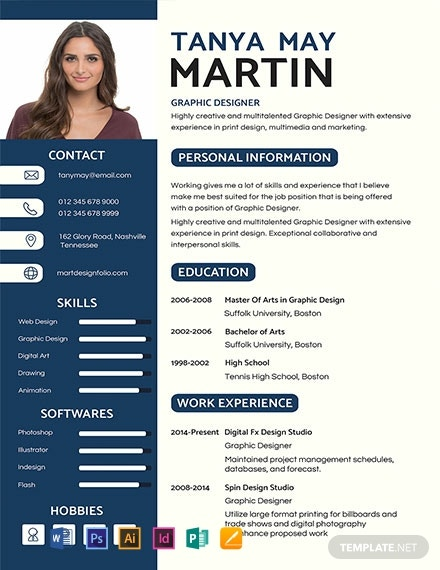 free professional resume and cv template  download 1471