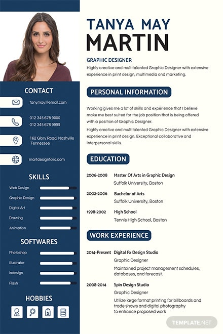 free professional banking resume and cv template  download