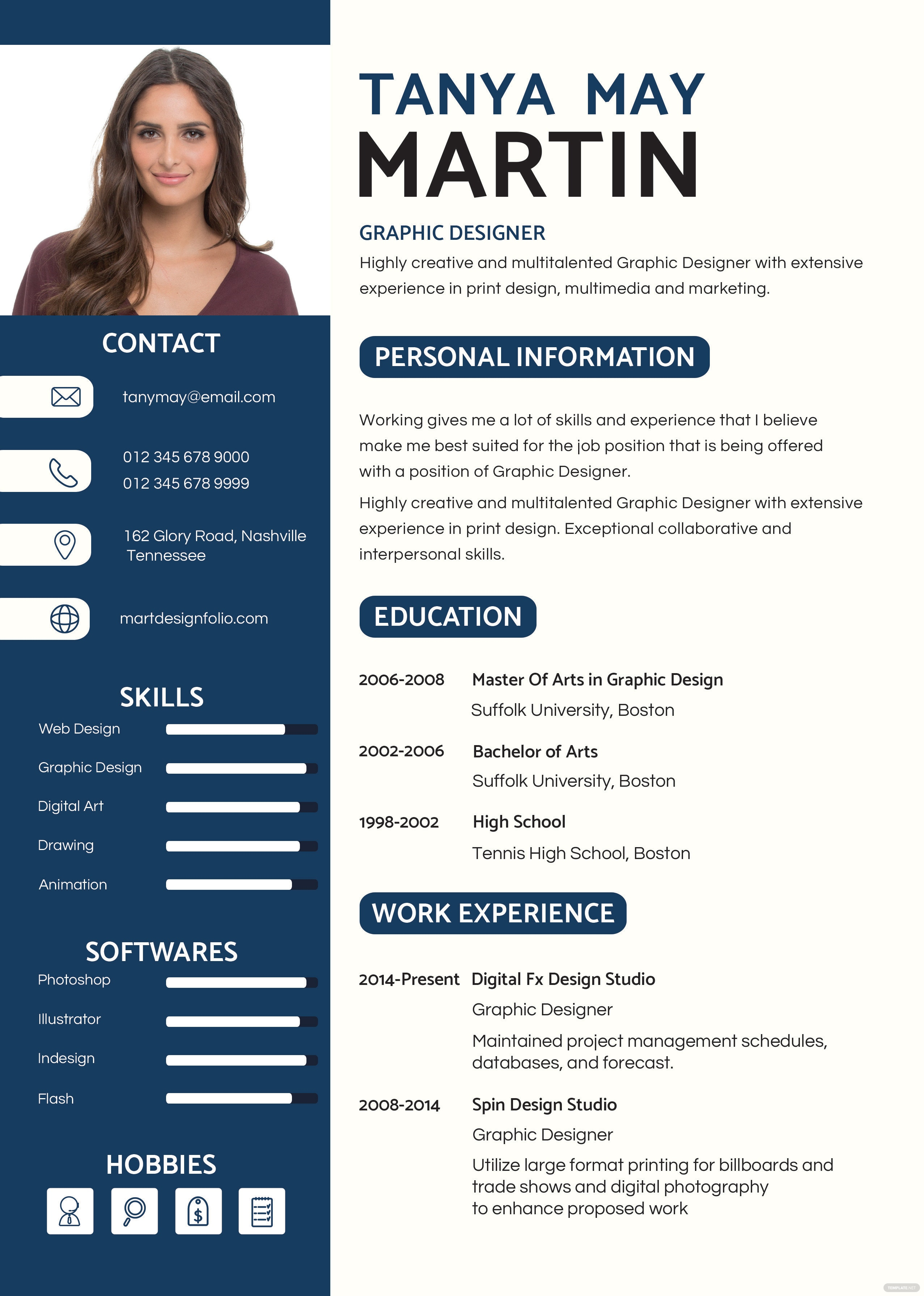 free professional resume and cv template in psd  ms word  publisher  illustrator  indesign