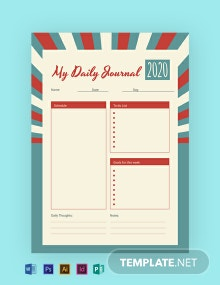 Free Retro Journal Template