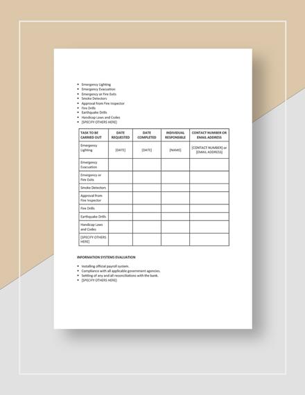 New Restaurant Opening Checklist Download