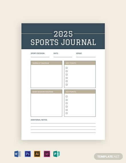 FREE Sports Journal Template - Word | PSD | InDesign