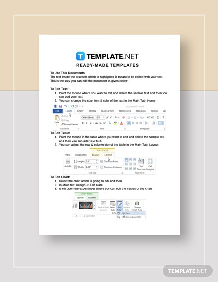 Restaurant Bank Loan and Application Form Checklist Instructions
