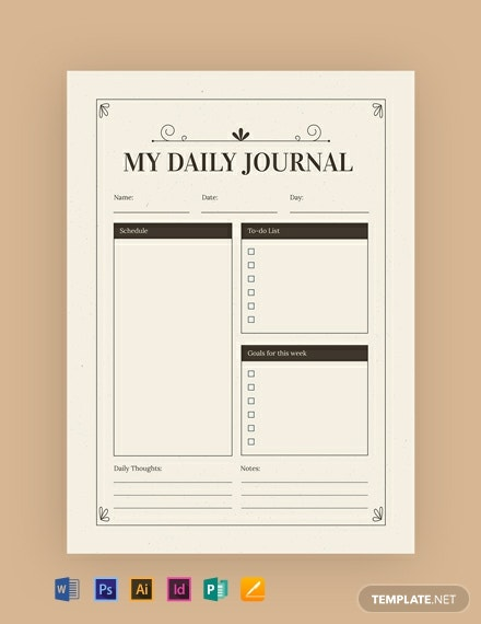 Free Vintage Journal Template