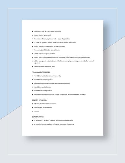 Accountant Job Description Download