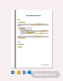 Free Sample Civil Engineer Offer Letter Template