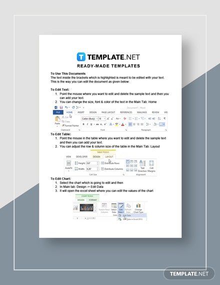 Restaurant Buffet Cost Tracking Letter Instructions