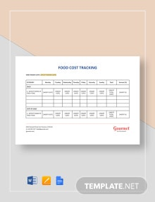 Food Cost Tracking Template