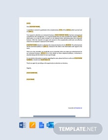 Restaurant Advertisement Approval Letter Template