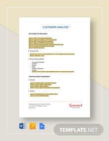 Restaurant Customer Analysis Template