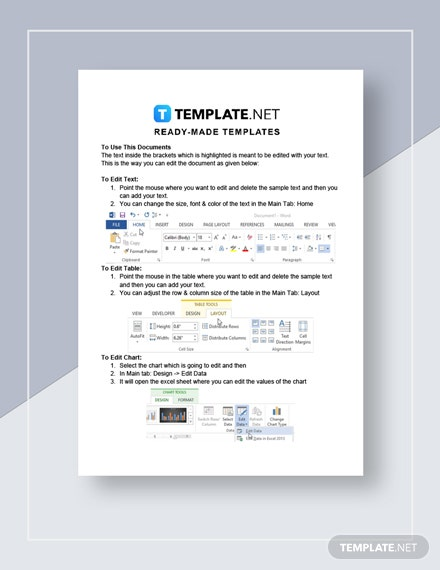 Restaurant Application Response Letter Instructions