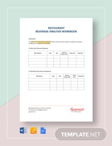 Restaurant Beverage Analysis Workbook Template