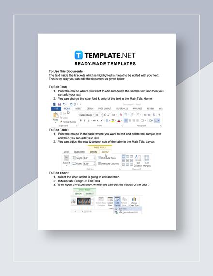 Restaurant Letter of Intent for Transaction Instructions