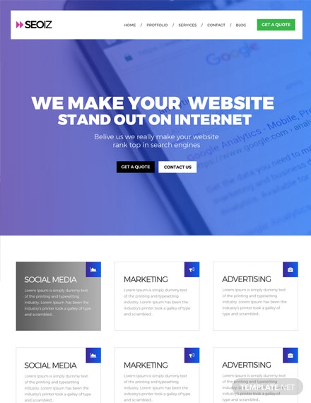 Free SEO HTML5/CSS3 Website Template