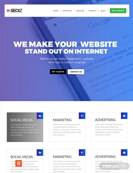Free SEO HTMLCSS Website Template