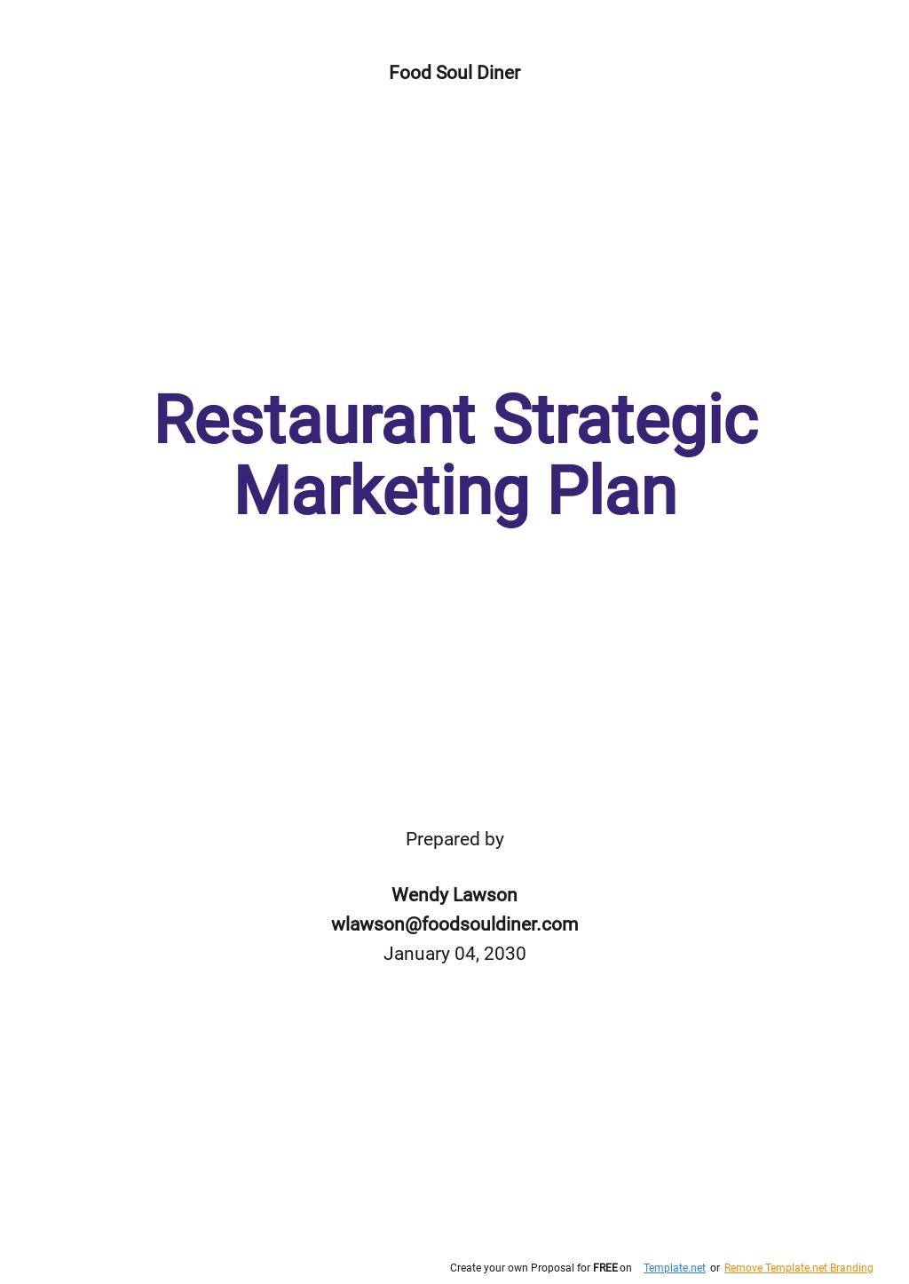 Restaurant Strategic Marketing Plan Template.jpe