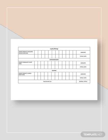 Restaurant Marketing Promotion Tracking Template