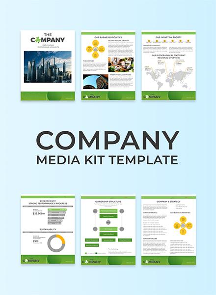 Free Company Media Kit Template