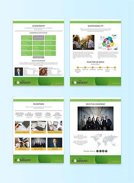free company media kit template in adobe photoshop microsoft word