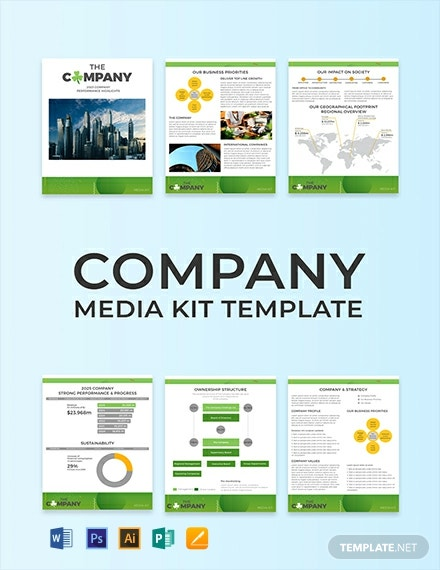 free creative company media kit template  download 29
