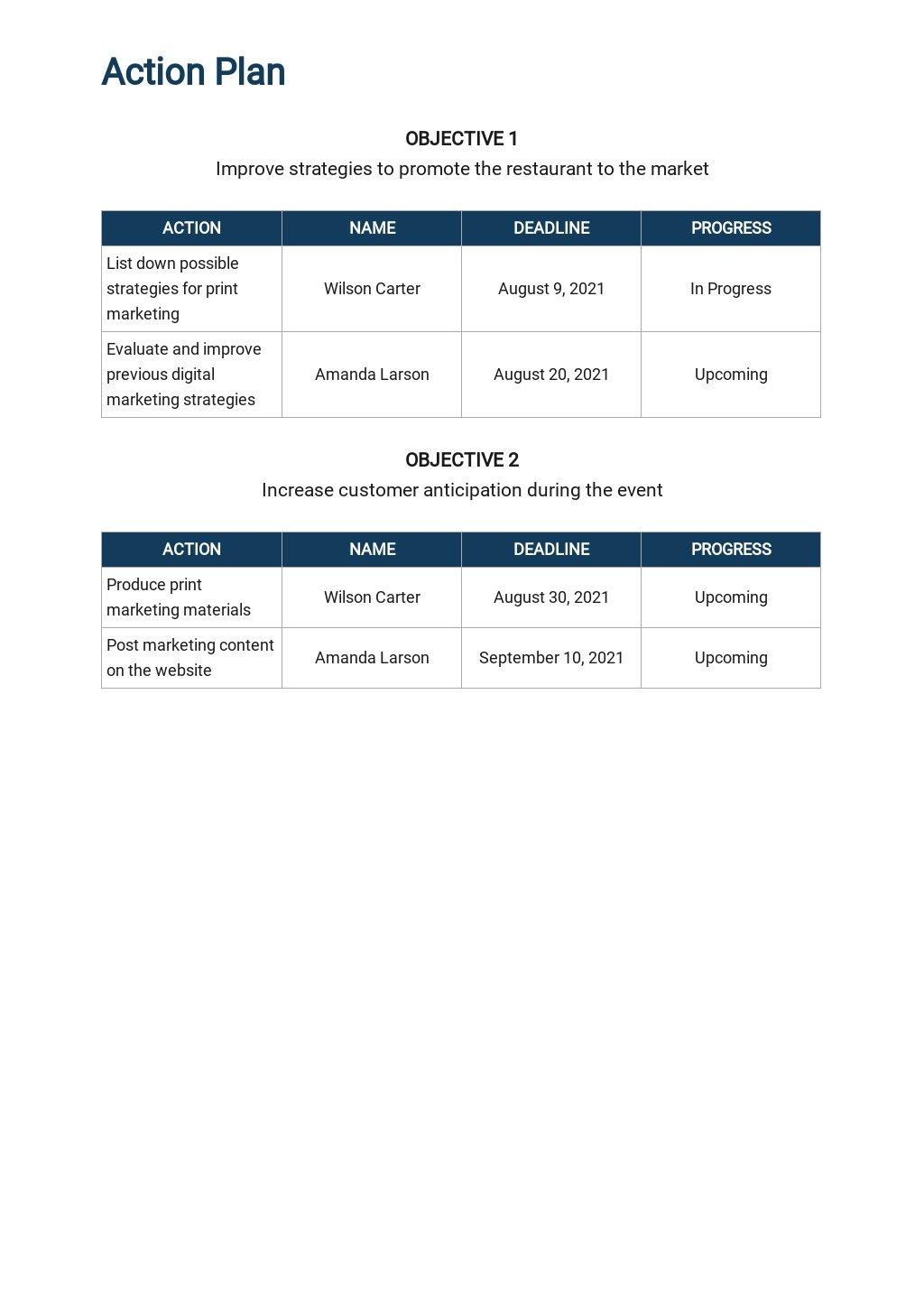 Restaurant Marketing Planning Calendar Template 4.jpe
