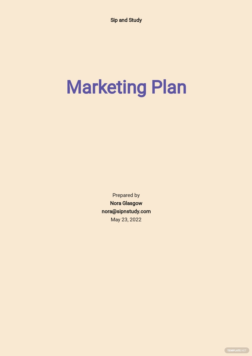 Sample Restaurant Marketing Plan Template