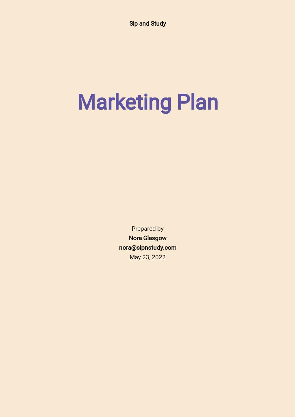 Sample Restaurant Marketing Plan Template .jpe