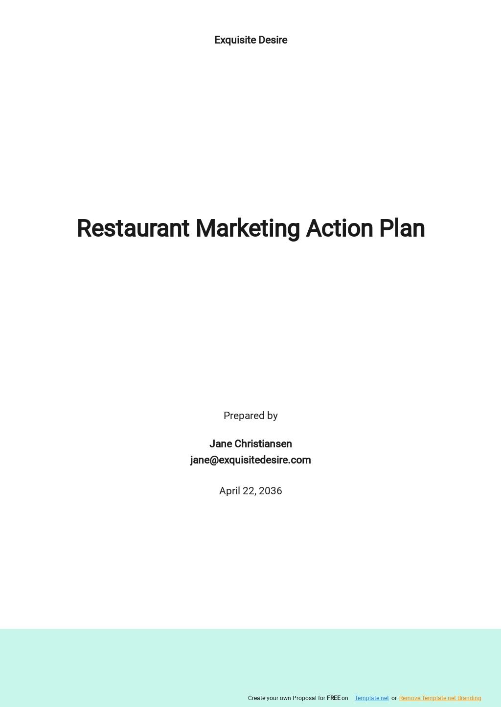 Restaurant Marketing Action Plan Template.jpe