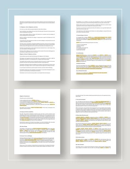 Restaurant Email Marketing Agreement Download