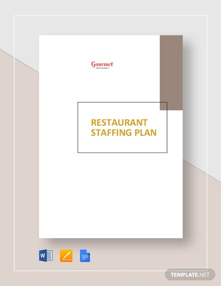 Restaurant Staffing Plan Template