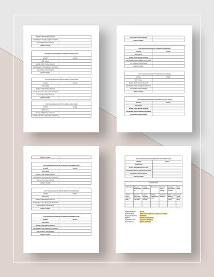 Sample Restaurant Staffing Plan