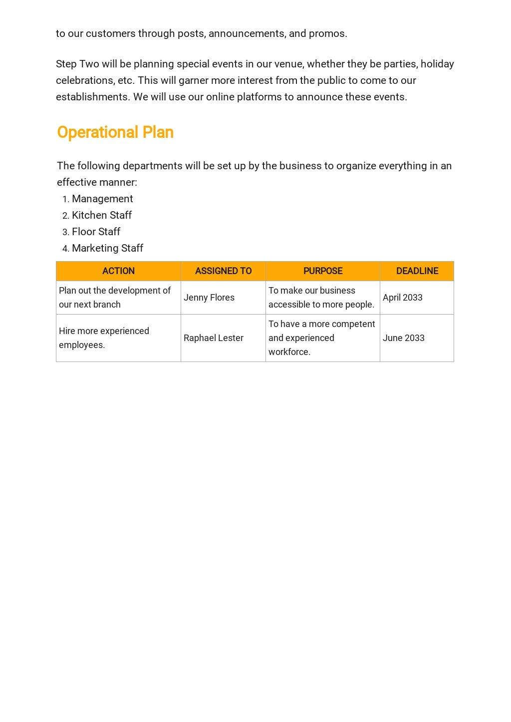 Restaurant Franchise Business Plan Template 4.jpe