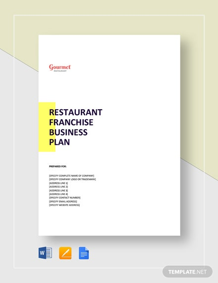 Restaurant Franchise Business Plan Template