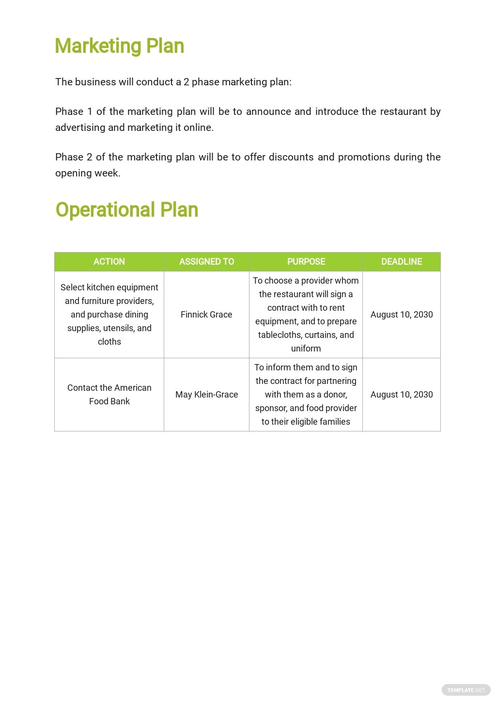 Restaurant Business Plan To Get A Loan Template [Free PDF] - Google Docs, Word, Apple Pages
