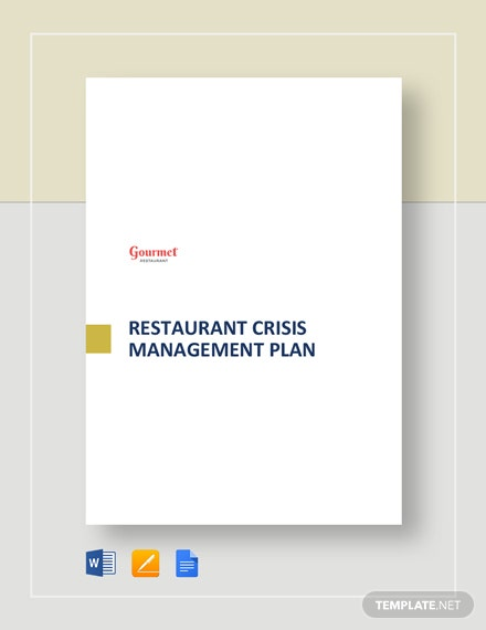 Restaurant Crisis Management Plan Template