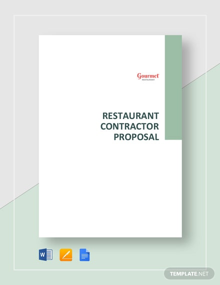 Restaurant Contractor Proposal Template