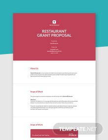 Restaurant Developing a Grant Proposal Template
