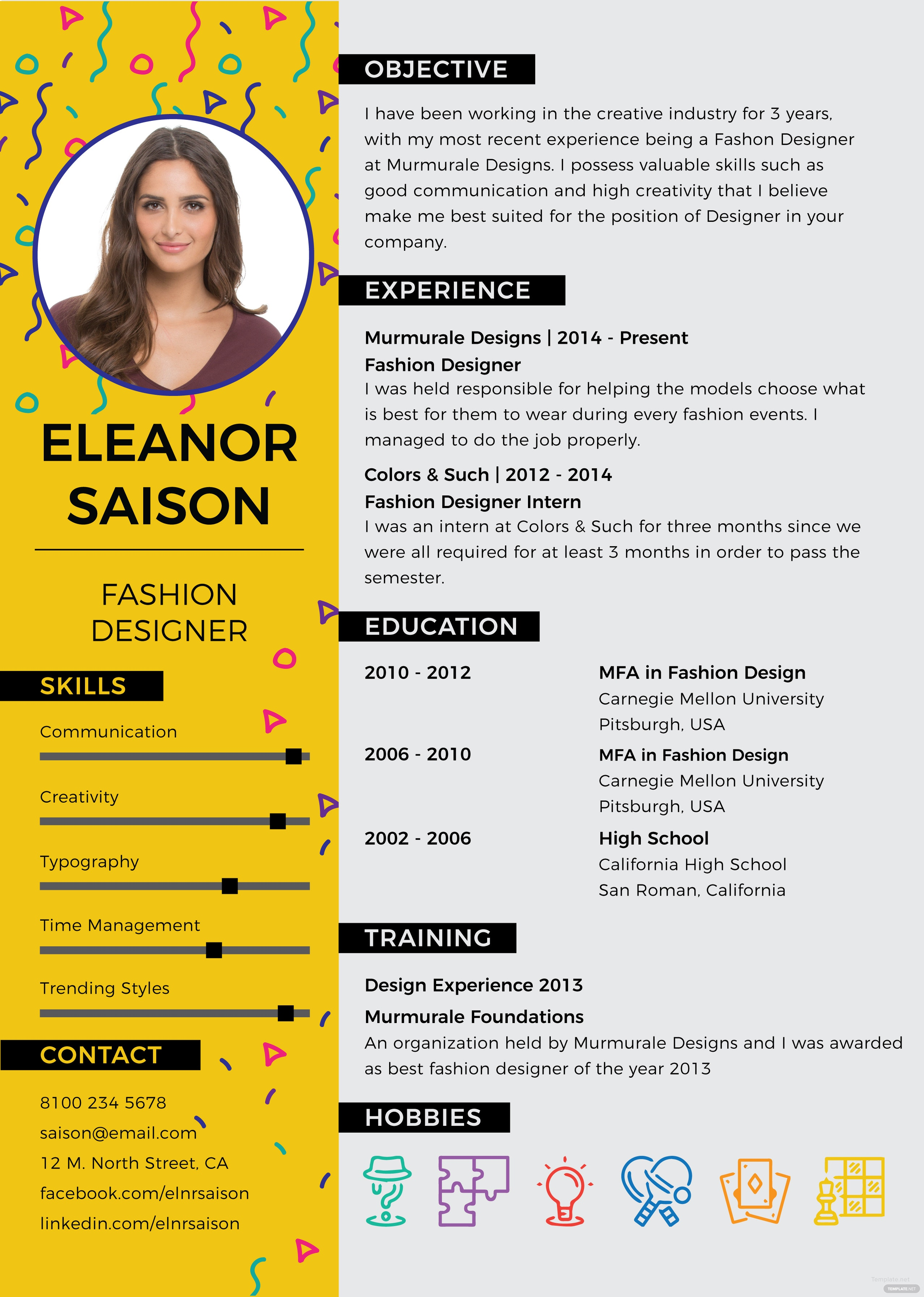 free designer resume template in adobe photoshop