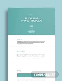 Restaurant Project Proposal Template