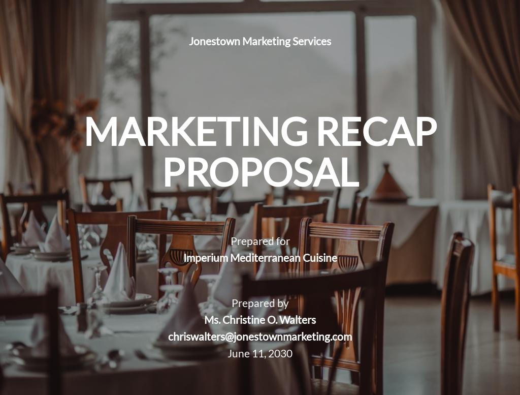 Restaurant Marketing Recap Proposal Template.jpe