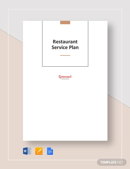 Restaurant Service Plan Template