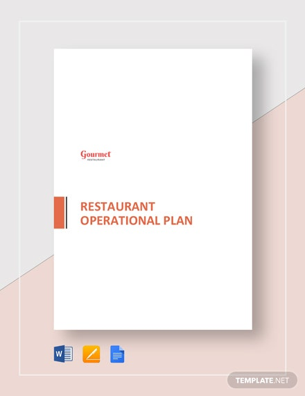 Restaurant Operational Plan