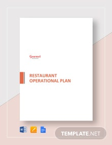 Restaurant Operational Plan Template