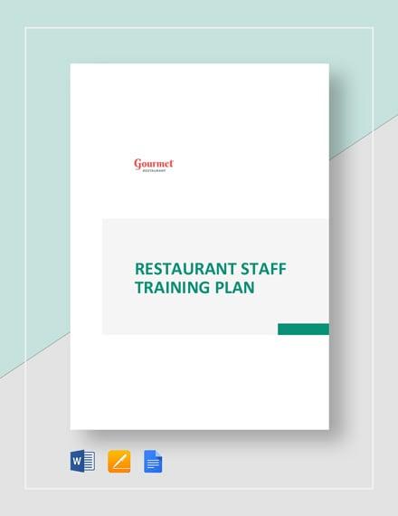 Restaurant Staff Training Plan Template