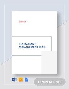 Restaurant Management Plan Template