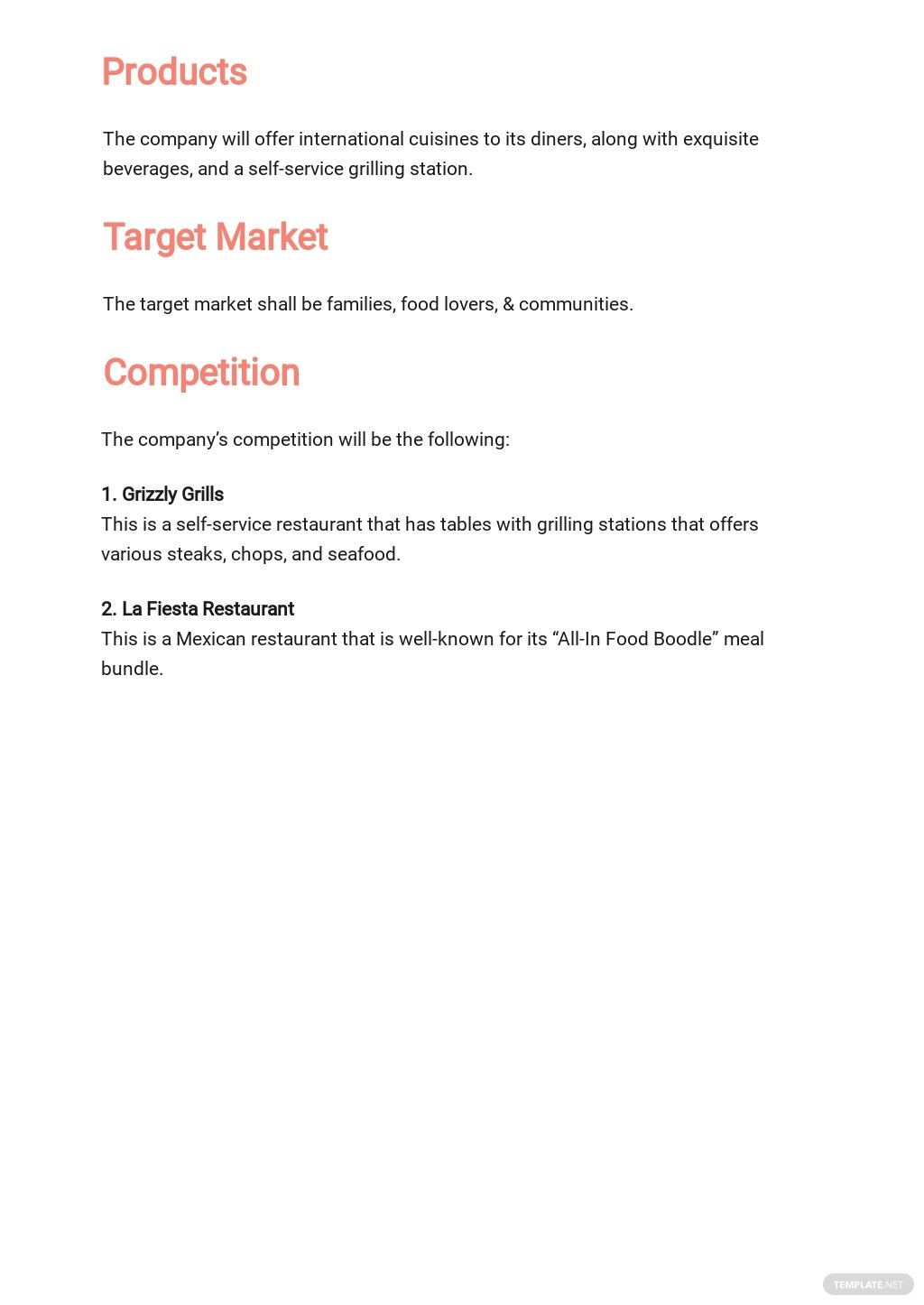 Restaurant Business Plan for Landlord Template 2.jpe