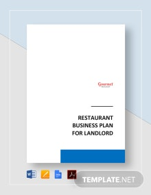 Restaurant Business Plan for Landlord Template