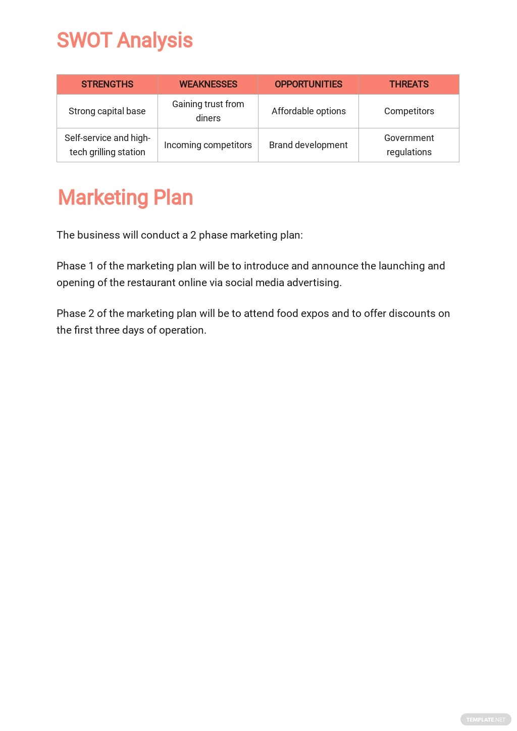 Restaurant Business Plan for Landlord Template 3.jpe